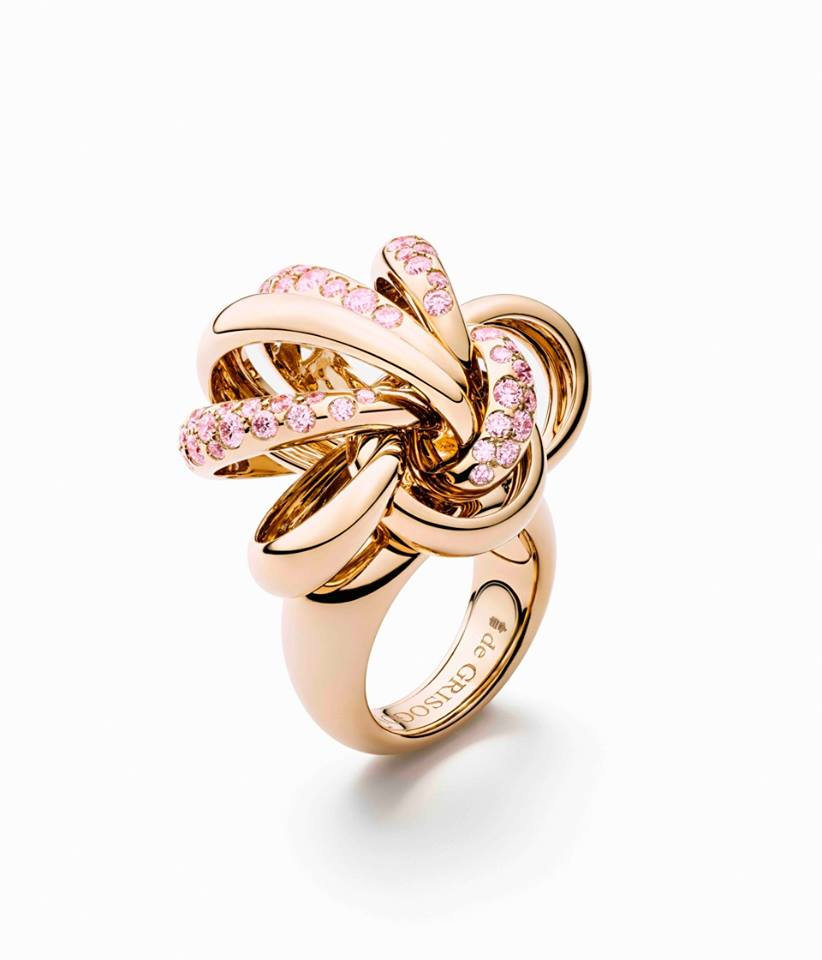 Rose gold ring rose gold ring de grisogono earrings for What is fine jewelry